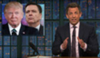 video: seth meyers can't believe trump's 'crazy' tweets during comey hearing