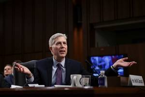 Judge Neil Gorsuch failed the horse-sized duck question
