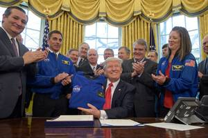 Trump hypes the private space industry while signing NASA bill