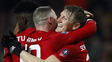 Bastian Schweinsteiger: Watch his last goal for Manchester United