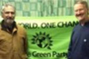 East Devon Green Party candidates for Devon elections in Exmouth...