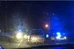 Plymouth biker fractures leg in smash which closed road