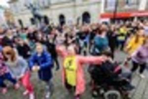 world down syndrome day marked by flash mob in truro