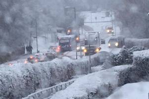 it's snow joke: east kilbride and strathaven wake up to blizzard days before start of british summer time