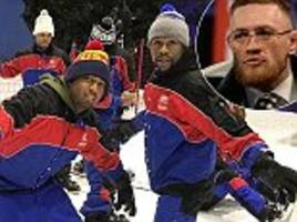 floyd mayweather skis as conor mcgregor fight edges nearer