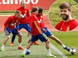 spain ramp up preparations for israel clash
