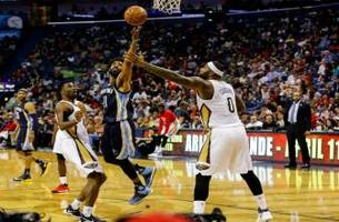 grizzlies live to go: cousins drops 41 points to help give the pelicans the victory over the grizzlies 95-82