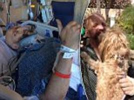 Harry Potter actor Jim Tavare reunited with his dog