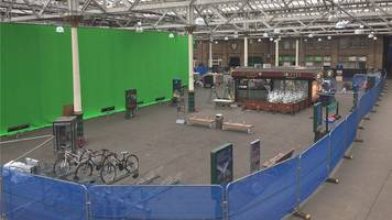 edinburgh transformed ahead of filming the avengers