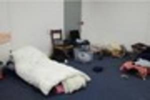 see what's been left inside exeter's temporary homeless shelter