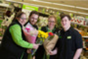 Mum and three children all work in the same Asda store