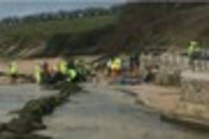 Emergency services rush to Porth in Newquay after car leaves road...
