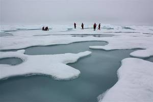 Arctic sea ice dips to record low for winter
