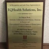 eqhealth solutions receives the centers for medicare and medicaid services award for 87,000 lives saved, 2.1 million fewer patient harms and $19.8 billion in cost savings