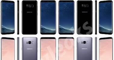 Samsung Galaxy S8 and S8+ Colors Shown in New Renders From All Angles