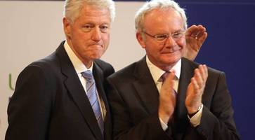 Martin McGuinness funeral: Bill Clinton arrives in Dublin for Derry service