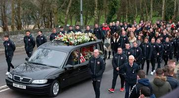 ryan mcbride funeral: mourners told of derry city captain's 'powerful example' who was 'brave and knew no fear'
