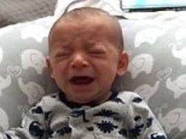 baby stops crying when he smells his mother's shirt