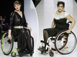 Stunning wheelchair-bound models at Moscow Fashion Week