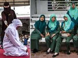 The smiling Sharia policewomen of Banda Aceh, Indonesia