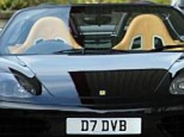 David Beckham's Ferrari up for auction
