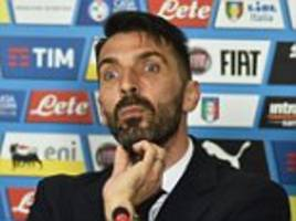 italy keeper gianluigi buffon preapres for 1,000th game
