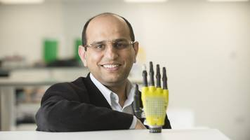 Solar-powered skin for prosthetic limbs