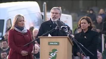 Martin McGuinness Funeral: Gerry Adams calls out to unionist neighbours