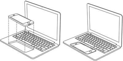 Apple imagines turning an iPhone or iPad into a touchscreen MacBook
