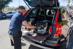 Volvo put a Seattle coffee shop in the back of an XC90