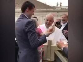 atlanta girl in rome shocks the pope by grabbing his headgear