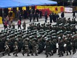 10,0000 police turn out to guard china v south korea match