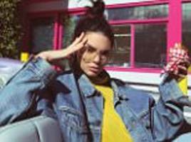 Kendall Jenner tries to look tough as she poses for snap