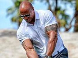 the rock has almost broken record for longest golf drive