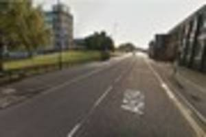 Motorcyclist hurt after crash in London Road, Derby
