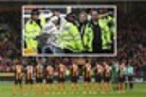 hull city pay respects to westminster terror attack victims