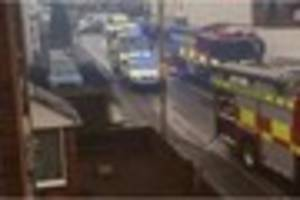 Main Gloucester road closed as emergency services deal with blaze