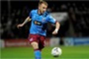 Paddy Madden brings up a half century of goals for Scunthorpe in...