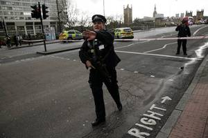 seven  arrests after raids in response to westminster terror incident