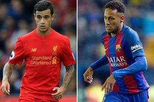 Liverpool star Phillipe Coutinho would be perfect for Barcelona says Neymar