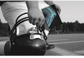 carestream's wireless digital x-ray technology delivers rapid access to diagnostic images of football players at nfl combine