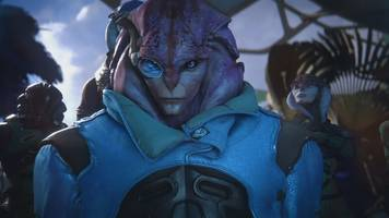 mass effect fans' latest heartthrob is one of the galaxy's newest aliens