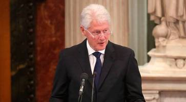 Hilary Clinton moved to tears by former US president's eulogy at McGuinness funeral