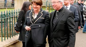 martin mcguinness funeral: they came from far and wide... but arlene foster made toughest journey