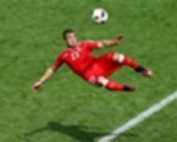 video: shaqiri nets stunning scissor kick in training