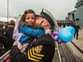 hms ocean sailor is reunited with his daughter
