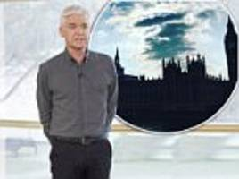Phillip Schofield is mocked on Twitter for 'defiant' walk