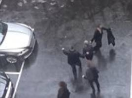 theresa may leaves parliament during london terror attack