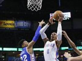 russell westbrook notches 35th triple-double of the season