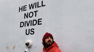 Shia LaBeouf Trump protest shut down again after moving to Liverpool